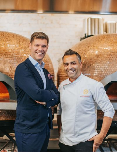 400 Gradi founder Johnny Di Francesco and Igor Stevovic in Dallas, Texas